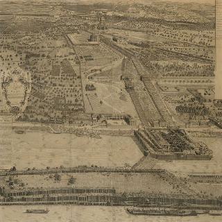 유명한 마를리 조직 전경, (1682년 건축)