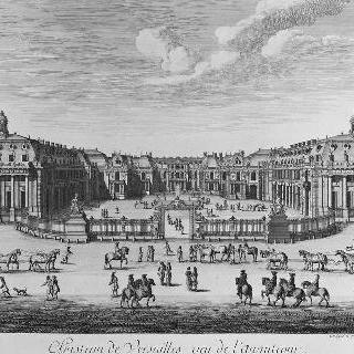 1682년 앞뜰 쪽에서 본 베르사유 성 전경