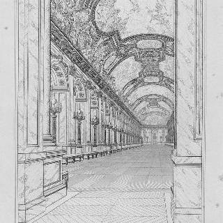 루이-필립 시대의 베르사유 거울 회랑 전경