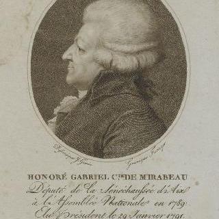 오노레-가브리엥 리케티 (1749-1791), 미라보 백작