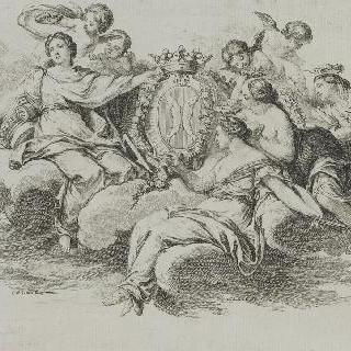 마리뉘 후작, 방디에르 씨, 아벨 푸아송 (1727-1781)의 문장