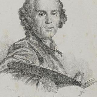 조셉 베르네 (1714-1789), 화가, 팔레트를 들고 있는 모습
