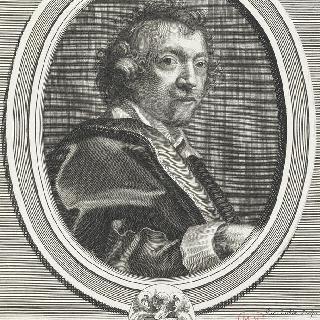 문장과 함께 있는 시몽 부에 (1582-1649), 왕실 일등 화가