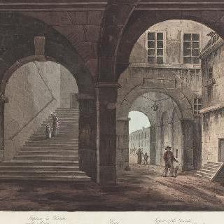 제정 시대, 파리의 샤틀레 감옥 내부 전경
