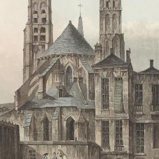 제정 시대, 파리의 생-제르맹-데-프레 교회의 후진 전경