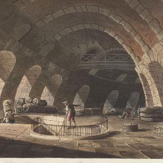 제정 시대, 파리의 밀 홀 내부 전경