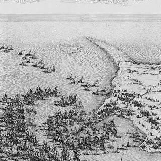 1625년 루이 13세에 의한 레 섬의 생-마르탱 성채 공략 - 판 1