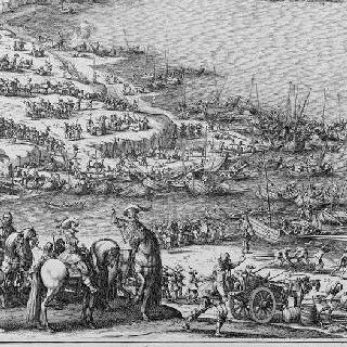 1625년 루이 13세에 의한 레 섬의 생-마르탱 성채 공략 - 판 4