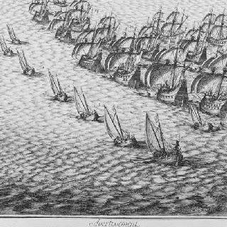 1625년 루이 13세에 의한 레 섬의 생-마르탱 성채 공략 - 판 6