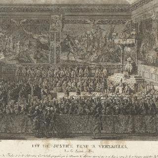 베르사유에서 1787년 8월 6일 루이 16세가 앉은 파리 고등법원 옥좌 장면
