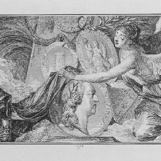 1774년 루이 15세의 죽음에 대한 우의화