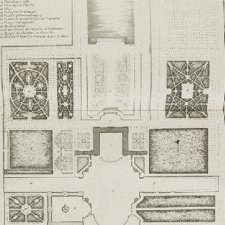 판 47 : 클라뉘 정원과 성의 전체 도안