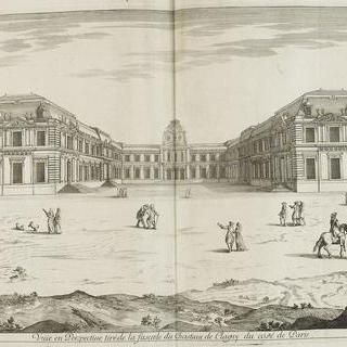 판 48 : 1678년 파리 쪽의 클라뉘 성의 정면 전경