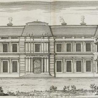 판 49 (1) : 뜰 쪽의 클라뉘 성 꼭대기 전경, 1678년