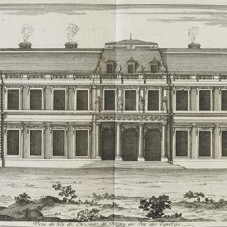 판 49 (2) : 뜰 쪽의 클라뉘 성 꼭대기 전경, 1678년