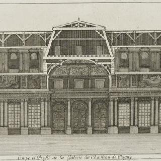 판 50 (2) : 1678년 클라뉘 성 회랑 프로필 단면도