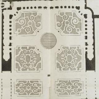 판 16 : 베르사유 오랑쥬리 회화관의 바닥과 화단 전경