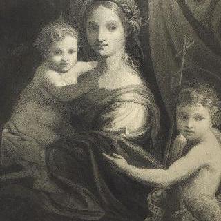 길리오 로마노 풍의, 성 세례 요한과 함께 있는 성모와 아기 예수