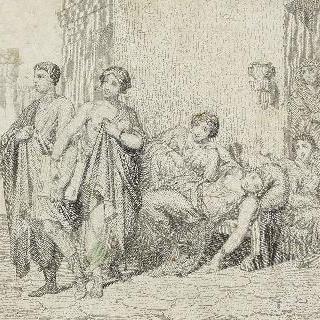 알퐁스 카바송 풍의 로마 창가