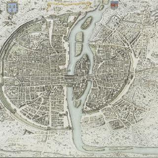 파리시의 원근화법 지도