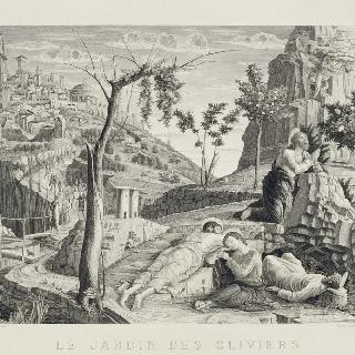 감람동산의 그리스도. 베론의 산 제노 제단 뒤 장식벽의 성단 그림의 왼쪽 부분