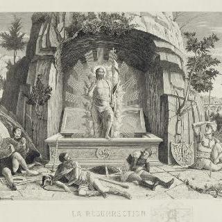 부활. 베론의 산 제노 제단 장식벽의 그림 아래의 오른쪽 부분