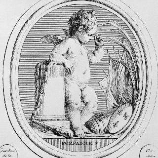 왕실 조각사 귀에 (1711-1793)의 조각돌 풍의 판화 연속 : 군사 요정