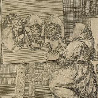 브노아 랑제 신부, 카푸생, 화가