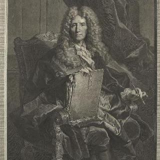 안락의자에 앉아 있는 피에르 미냐르 (1612-1695), 화가, 노년 모습