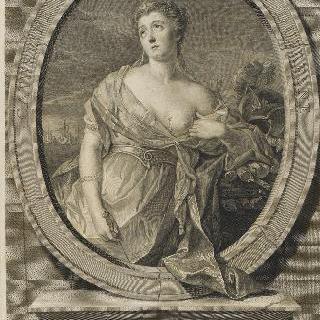 카트린느-마리-잔느 뒤프레 (1705-1767), 일명 드 센느 양, 여배우