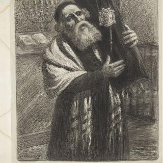 모세 5서 두루마리를 들고 있는 유대인