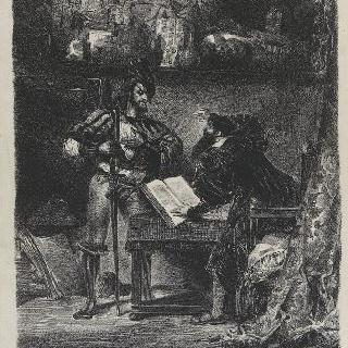 파우스트 앞에 나타나는 메피스토펠레스, 두 번째 판, 1827년