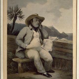 세인트 헬레나 섬에서 재배를 하는 나폴레옹 2세