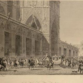 대관식 서 : 노트르담에 도착하는 황제와 황후