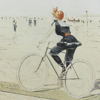석판화 시리즈 : 자전거