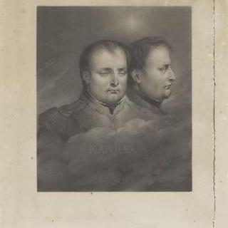 정면과 프로필의 나폴레옹 이중 초상
