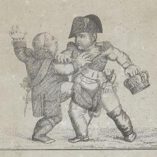 루이 18세의 왕관을 낚아채는 나폴레옹