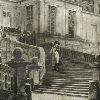 양위 후의 퐁텐블로의 나폴레옹 1세