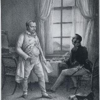 구르고 장군에게 자신의 회고록을 구술하는 세인트 헬레나 섬의 나폴레옹