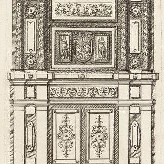 고대풍의 장롱을 묘사한 판화 (내장판 )
