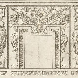 벽난로 모델을 묘사한 판화