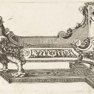 잘린 침대 또는 아이 침대를 묘사한 판화