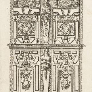 두 몸통의 장롱을 묘사한 판화