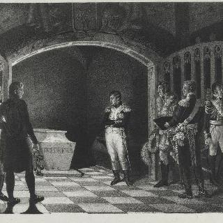 프레데릭 대제의 묘 앞의 나폴레옹