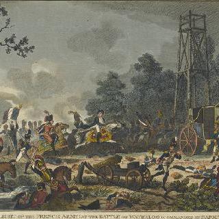 워털루에서 패전하는 나폴레옹, 1815년 6월 18일