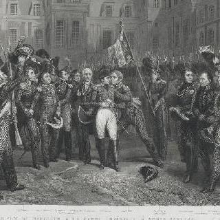 퐁텐블로의 왕실 근위대에 작별인사를 고하는 나폴레옹, 1814년 4월 20일