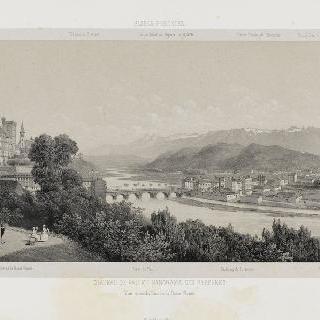포 성과 피레네 파노라마 광경