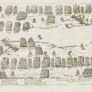이브리 전투의 배치와 도면 (1590년 3월 14일)