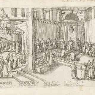 교황 클레멘스 8세의 사면을 받는 앙리 4세, 1595년 9월 23일