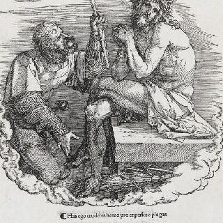 그리스도의 수난기 - 고통을 지고 있는 인간과 돈에 팔린 인간 : 제목 페이지
